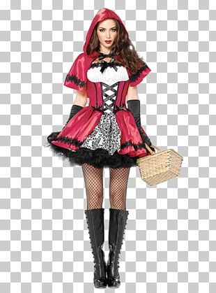 Little Red Riding Hood Big Bad Wolf Halloween Costume Dress PNG