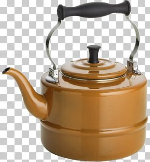 Teapot Kettle Ceramic Vitreous Enamel PNG