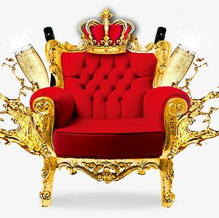 Crown Red Throne Champagne PNG
