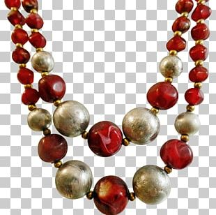 Pearl Necklace Beadwork Silver PNG