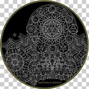 Owl Circle Sacred Geometry Platonic Solid PNG