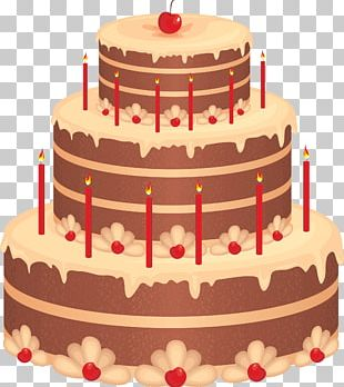 Birthday Cake Layer Cake Chocolate Cake PNG