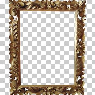 Frames Painting Wood Carving Mirror PNG