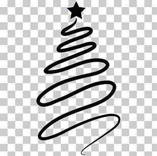 Santa Claus Christmas Tree Silhouette PNG