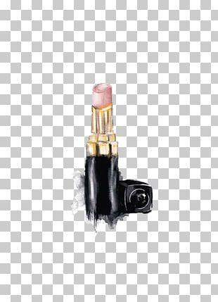 Chanel Lipstick Poster Fashion Illustration PNG