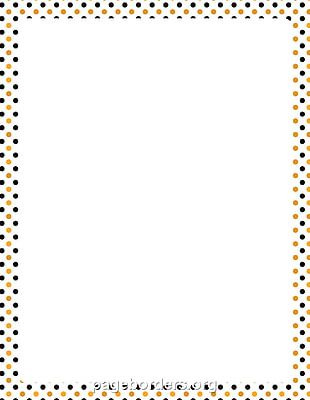 Paper Halloween Polka Dot PNG