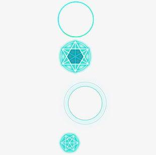 Green Simple Magic Circle Decorative Pattern PNG