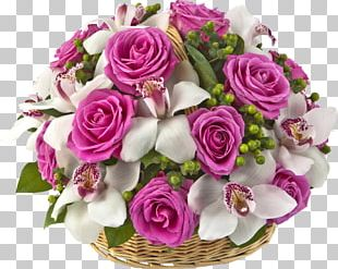 Flower Bouquet Cut Flowers Rose Basket PNG