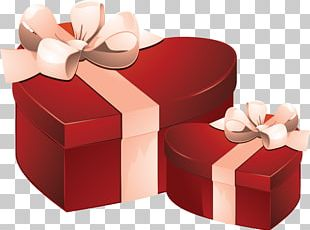 Valentine's Day Gift Decorative Box PNG