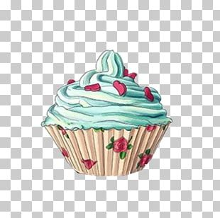 Cupcake Muffin Birthday Cake Bakery Drawing PNG