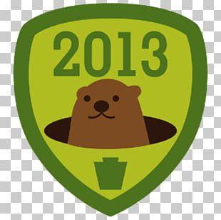 Groundhog Day 2 February Badge Logo PNG
