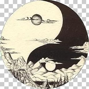 Yin And Yang Moon Drawing Light Tattoo PNG