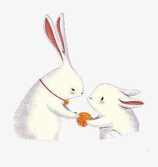 Cartoon Illustration Of Mid-Autumn Rabbit PNG