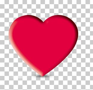 Heart Love Valentines Day Red PNG