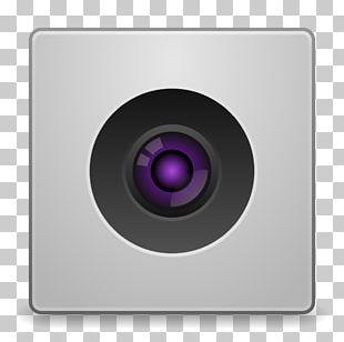 Purple Multimedia Lens PNG