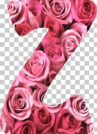 Rose Letter Alphabet Flower PNG
