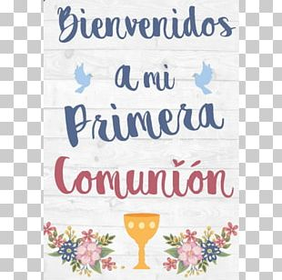 First Communion Poster Eucharist Child Gift PNG