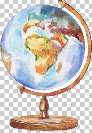 Globe Watercolor Painting Drawing Illustration PNG