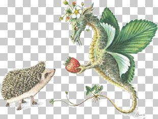 Hedgehog Animal Dragon Christmas Greeting & Note Cards PNG