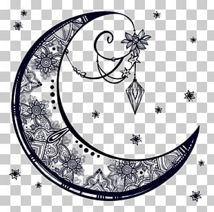 Drawing Crescent Moon PNG