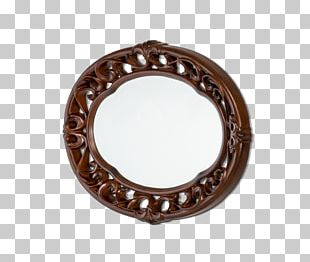 Silver Mirror Buffets & Sideboards Oval PNG