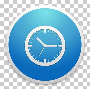 Blue Home Accessories Alarm Clock PNG