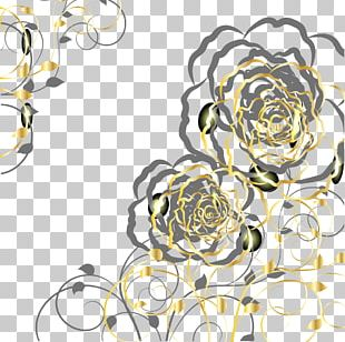 Euclidean Gold Flower PNG