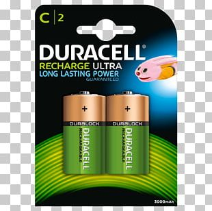 Battery Charger Nickel–metal Hydride Battery Duracell Rechargeable Battery C Battery PNG