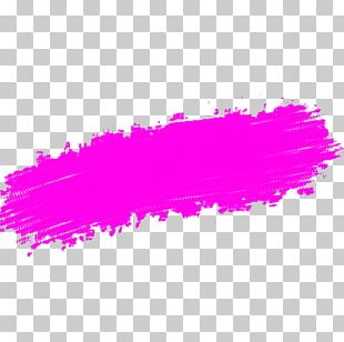 Purple Violet Magenta Brush Stroke PNG
