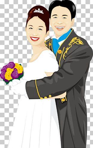 Cartoon Couple Illustration PNG