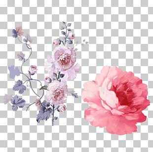 Watercolour Flowers Flower Bouquet Pink Flowers Watercolor Painting PNG
