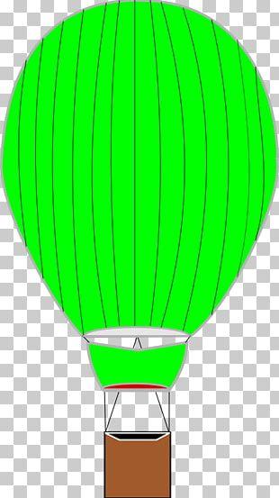 Hot Air Ballooning Flight Drawing PNG