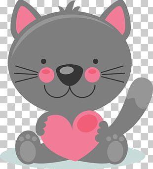 Valentine's Day Kitten PNG