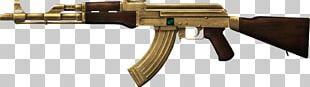 AK-47 Gold Plating Firearm Assault Rifle PNG