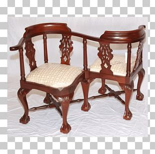 Table Chair Antique Wood PNG