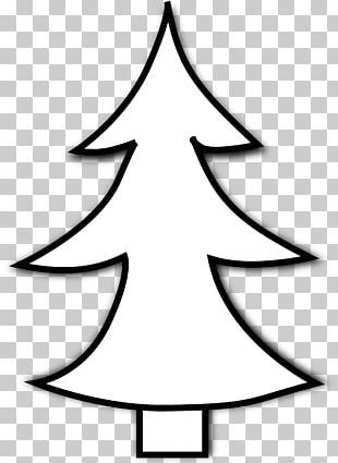 Christmas Tree Black And White Santa Claus PNG