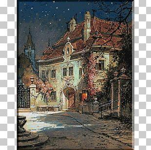 Landscape Painting Austria Watercolor Painting Art PNG