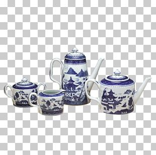 Tableware Porcelain Teapot Blue And White Pottery Ceramic PNG