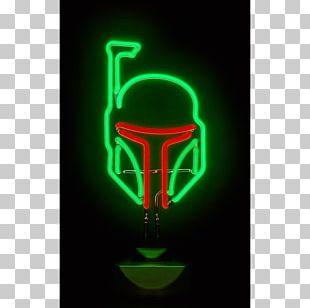 Light Fixture Neon Sign Boba Fett PNG