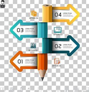 Perspective Pencil Arrow Graph PNG