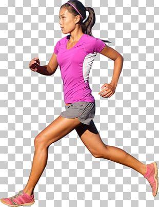 Running Sprint Marathon Sport Woman PNG