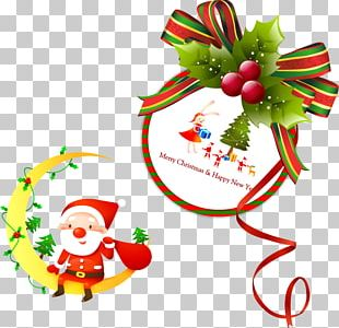 Christmas Tree Santa Claus Christmas Ornament Gift PNG