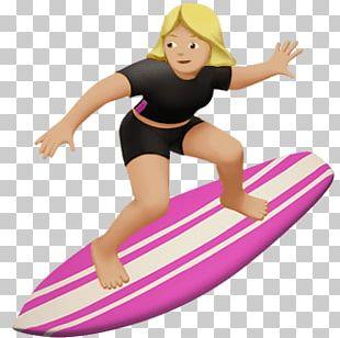 Female Surfer Emoji PNG