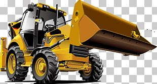 Tractor Bulldozer Backhoe Loader Heavy Equipment PNG