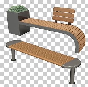 Bench Chair Garden Seat Park PNG