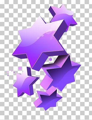 Pentagram Three-dimensional Space Web Banner PNG