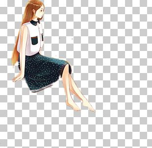 Cartoon Girl Illustration PNG