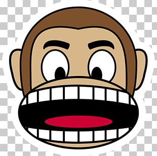Monkey T-shirt Emoji Anger Smile PNG