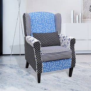 Wing Chair Massage Chair Patchwork Furniture PNG