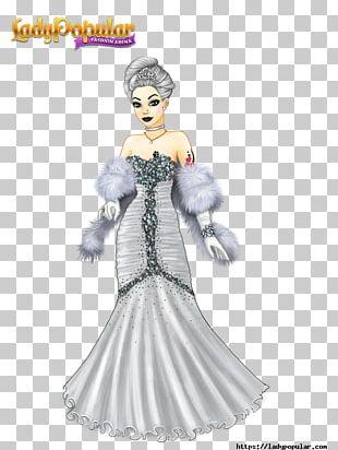 Costume Design Lady Popular Cartoon Figurine PNG